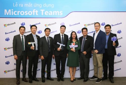 Sacombank số hóa môi trường làm việc với ứng dụng Microsoft Teams