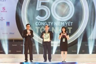 PNJ 5 lần liên tiếp lọt vào top 50 công ty niêm yết tốt nhất Việt Nam
