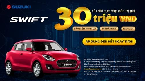 Giảm đến 30 triệu đồng khi mua xe Suzuki từ nay đến cuối tháng