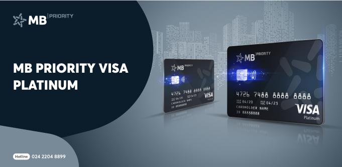 Thẻ tín dụng MB Priority Visa Platinum – khẳng định đẳng cấp