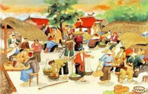 Chợ phiên quê nhà