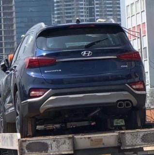 Hyundai SantaFe 2019 lộ diện trước ngày ra mắt