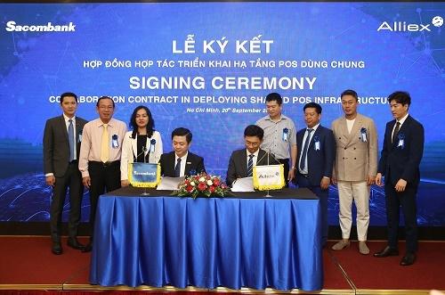 Sacombank và Alliex Việt Nam ký kết hợp tác triển khai hạ tầng POS dùng chung