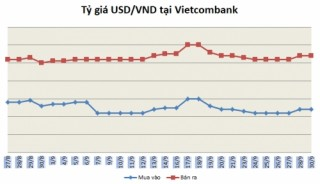 Tỷ giá ngày 30/9: Các ngân hàng giữ nguyên giá mua-bán
