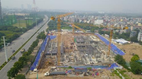 'Đại công trường' thi công không phép giữa Hà Nội