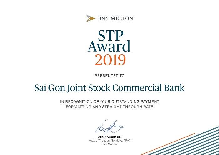 scb nhan giai thuong stp award cua bank of new york mellon