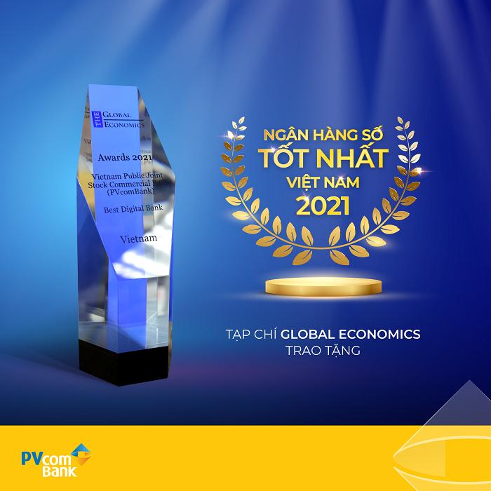 PVcomBank được vinh danh là Ngân hàng số tốt nhất Việt Nam năm 2021