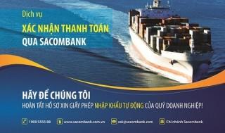 Dịch vụ xác nhận thanh toán qua Sacombank