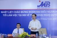 Phó Thống đốc Đào Minh Tú làm việc với MB về việc triển khai Nghị quyết 19, 35