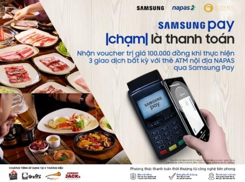 Trải nghiệm Samsung Pay để nhận ưu đãi với thẻ ATM nội địa