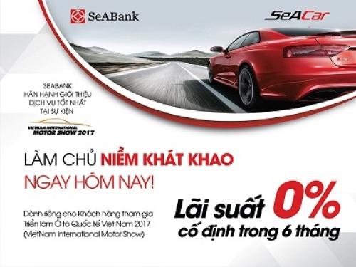 SeABank ưu đãi lãi suất cho khách mua xe tại triển lãm ô tô