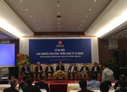 Ban Nghiên cứu Phát triển kinh tế tư nhân công bố chiến lược hành động