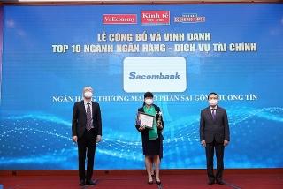 Sacombank liên tiếp nhận được các giải thưởng uy tín trong nước