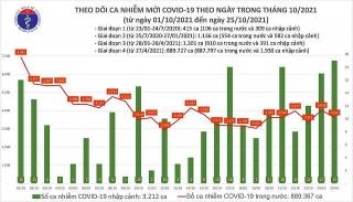 Việt Nam ghi nhận 3.639 ca mắc mới COVID-19 trong ngày 25/10