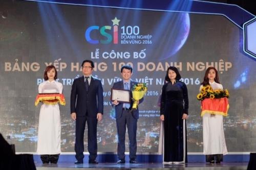 Bảo Việt đạt Top 10 DN bền vững xuất sắc 2016