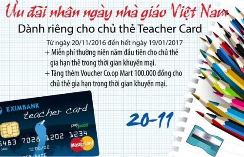 Eximbank tri ân ngày Nhà giáo Việt Nam