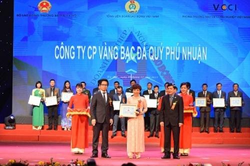 PNJ được vinh danh Doanh nghiệp vì người lao động