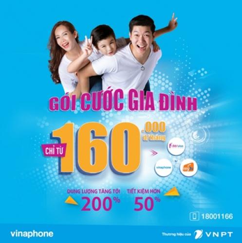 VNPT tăng gấp đôi ưu đãi cho gói Gia đình chỉ với 160.000 đồng