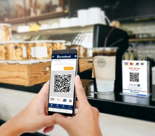 Sacombank ưu đãi cho chủ thẻ khi thanh toán bằng QR