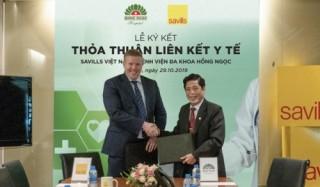 Savills Việt Nam và Bệnh viện đa khoa Hồng Ngọc hợp tác dịch vụ y tế