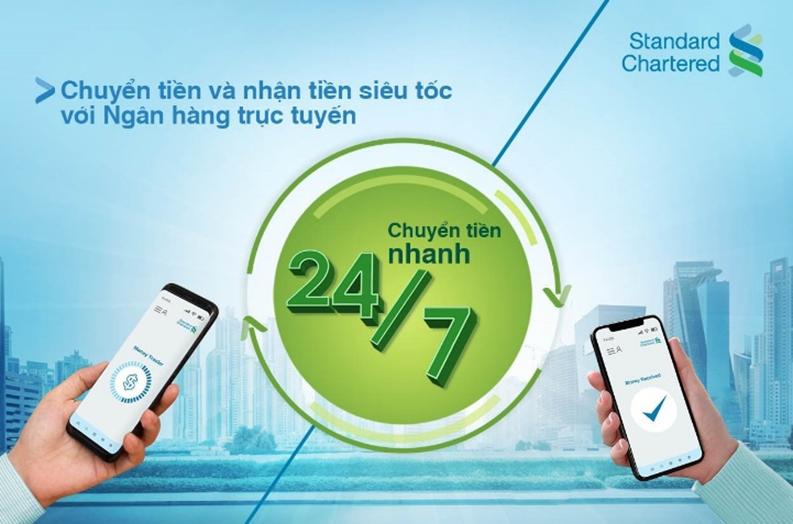 Standard Chartered triển khai dịch vụ chuyển tiền 24/7 và thu tiền sử dụng mã QR
