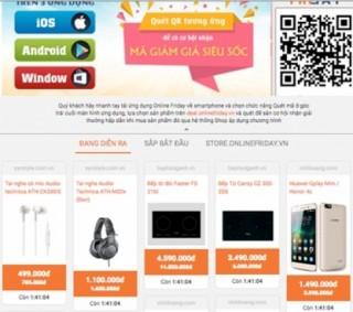 Săn iPhone7 giá 9 triệu, điều hoà giá 1 ngàn đồng... trong ngày OnlineFriday 2016