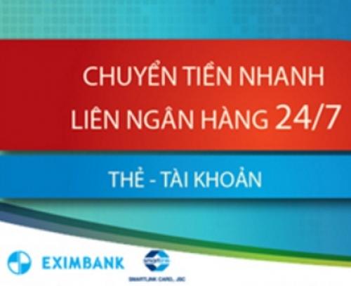 Eximbank: Mở rộng danh sách ngân hàng nhận chuyển khoản nhanh qua tài khoản