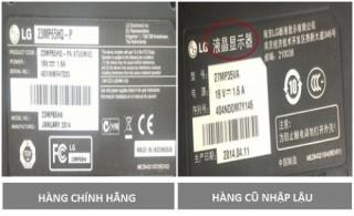 LG khyến cáo các loại màn hình nhập lậu, kém chất lượng