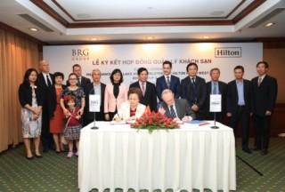 BRG và Hilton ký Hợp đồng quản lý khách sạn