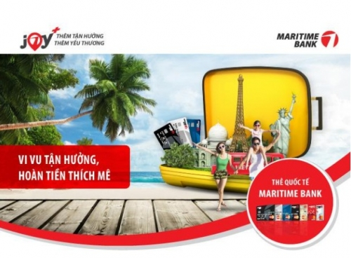 Ưu đãi lớn cho chủ thẻ Maritime Bank Visa
