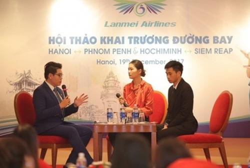 Lanmei Airlines chính thức khai thác đường bay thẳng Phnom Penh - Hà Nội