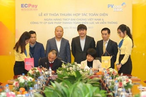 PVcomBank và ECPay ký Thỏa thuận hợp tác toàn diện