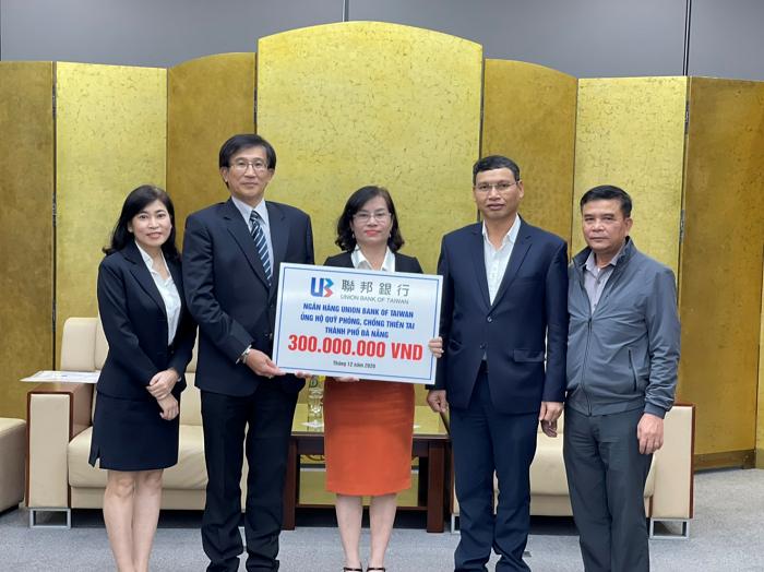 Union Bank of Taiwan hỗ trợ Quỹ Phòng chống thiên tai Đà Nẵng