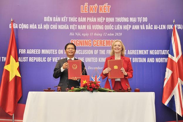 Vương quốc Anh và Việt Nam kết thúc đàm phán Hiệp định Thương mại Tự do